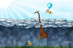 Giraffe Over The Clouds Canvas Artwork Cloud Wallpaper, Original Wallpaper, Animal Wallpaper, Computer Wallpaper, Canvas Artwork, Canvas Art Prints, Art Wall Kids, Wall Art, Giraffe Art