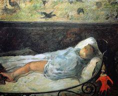 Paul Gauguin - Post Impressionism - La petite rêve - 1881