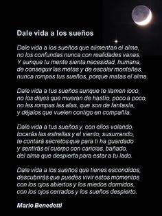 Dale vida a los sueños, de Mario Benedetti