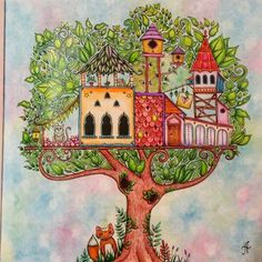 Enchanted Forest PicturesColoring BooksColouringTree HousesJohanna Basford