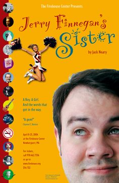 Jerry Finnegan's Sister• 2004 • poster designed by Tim Hiltabiddle