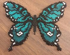 """Forty Below Butterfly"" inspired and stitched during the recent Polar Vortex. #Handmade by Hi-D"