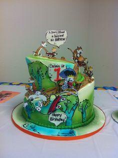 Calvin and Hobbes 1st birthday cake.