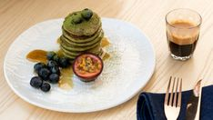 """#Get your right#Yoga Food#  Recipe: Matcha buckwheat pancakes  The former Hammerheads restaurant on Auckland's waterfront has been transformed into a """"wellness destination"""" with studios offering yoga, pilates and barre classes, a bistro and a shop. The nutrition-dense food is a popular brunch choice for clean ... #yogafood http://rock.ly/f8vw-"""