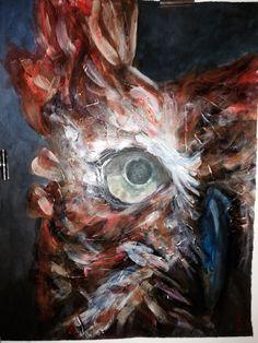 Moonlit Owl painted 2013 in Glenaeon's Art Show this weekend $850