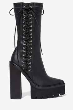 Jeffrey Campbell Crazy 8 Leather Boot | Shop Jeffrey Campbell at Nasty Gal #streetstyle