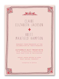 Art Deco Wedding Invitation | Sycamore Street Press