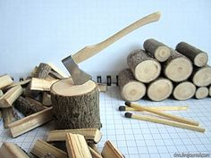 Dollhouse axe tutorial - in Russian - pictures provided