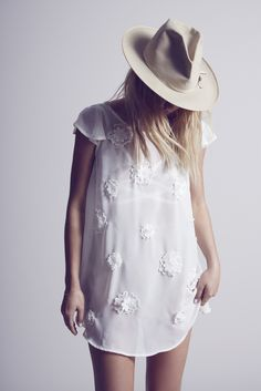 Modern Bohemian Flower Swing Dress by For Love and Lemons Daily Fashion 4a9d07d87