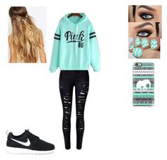 """""""Untitled #228"""" by paige-york0215 ❤ liked on Polyvore featuring beauty, NIKE, Johnny Loves Rosie and Casetify"""