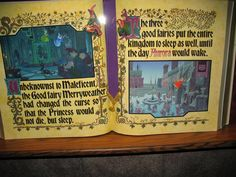 Sleeping beauty book in Sleeping Beauty Castle.