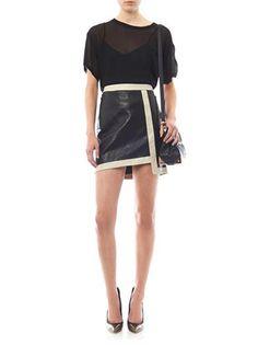 #MATCHESFASHION.COM       #Skirt                    #Evolution #contrast #trim #leather #skirt #Helmut #Lang #MATCHESF...         Evolution contrast trim leather skirt   Helmut Lang   MATCHESF...                                       http://www.seapai.com/product.aspx?PID=568270