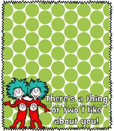 Dr. Seuss Suess Thing One Two Tag Topper Label - Digital File - treat idea for class party, birthday, teacher appreciation, etc
