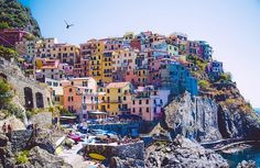 The Cinque Terre (or 5 Lands) are a little gem to visit in Italy. We are … – Travel and Tourism Trends 2019 Italy Vacation, Italy Travel, Travel Pictures, Travel Photos, Travel Around The World, Around The Worlds, Voyage Rome, Portofino Italy, Cinque Terre Italy