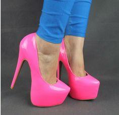 Pink Neon High Heels | Tsaa Heel