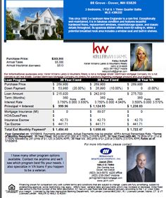 Two Open Houses this Sunday in Dover NH check out this flyer for the financial break down!