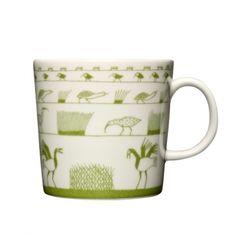 Oiva Toikka mug (Arabia Finland Teema model Kaj Franck) Ceramic Tableware, Ceramic Bowls, Ceramic Pottery, Kitchenware, Cuppa Tea, Danish Design, Scandinavian Design, Tea Set, Tea Cups