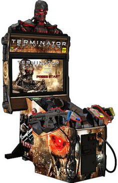 """Terminator Salvation Arcade 42"""" Model Video Game - Coin Operated From PlayMechanix / Raw Thrills / Betson"""