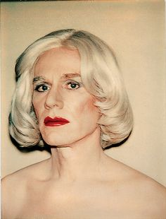 "Andy Warhol: self-portrait in drag, 1981. ""I'm not afraid to die; I just don't want to be there when it happens."""