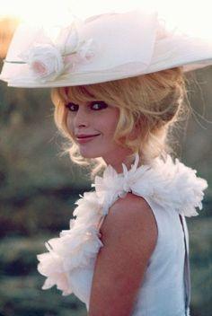 Brigitte Bardot on the set of Viva Maria 1965