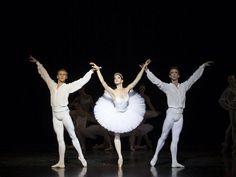 Royal Danish Ballet: Trio in 'Etudes'. Principal dancers Marcin Kupinski and Ulrik Birkkjær with soloist Holly Dorger (Costin Radu Photography) #TutuTuesday