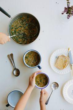 my darling lemon thyme: Hearty buckwheat + kale soup recipe