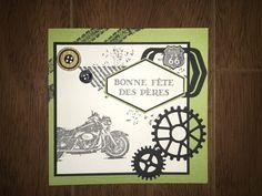 Carte anniversaire Handmade Cards, Card Ideas, Motorcycle, Men, Scissors, Cards, Craft Cards, Biking, Motorcycles