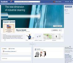 Englischsprachige Facebook Fanpage der mycon GmbH.