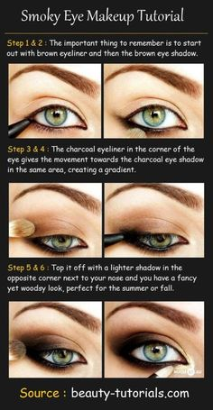 Makeup Tutorial... Maybe this will help because everytime I try to do the smoky eye look, it is more like a hooker eye look...