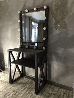 Купить Стол ESPRESSO. - коричневый, стол, стол с крестами, стол визажиста, косметический стол