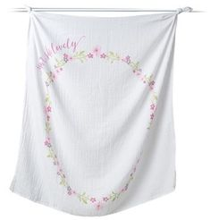 Lulujo Baby's First Year - Isn'T She Lovely Muslin Blanket & Milestone Card Set