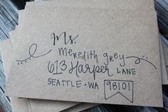 Personalized, handwritten, addressed envelopes for any special occasion. on Etsy, $1.00