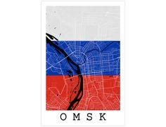 Omsk Street Map Omsk Russia Modern Art Print by JurqStudio on Etsy