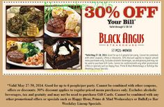 Free Printable Coupons: Black Angus Steakhouse Coupons
