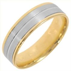 6.0mm 10K Two-Tone Gold Wedding Band - Zales