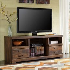 SIGNATURE DESIGN BY ASHLEY Signature Design by Ashley Quinden 64 TV Stand