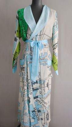 One Hundred Stars St Andrews Map Dressing Gown