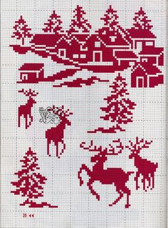 All in Red [Cross Stitch - Christmas] [Pattern / Chart]