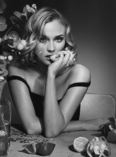 Diane Kruger Photographed by Christophe Meimoon   #portrait #photography #beauty