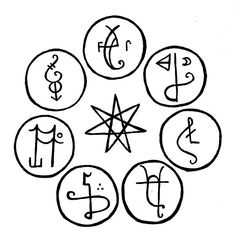 Shoal style sigil magick. This involves taking one sigil that has worked already, and a number of small ones that are new. Send them all together.
