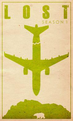 Lost Season 1 - Minimal TV Poster by Travis English #minimaltvposters #alternativetvposters #travisenglish