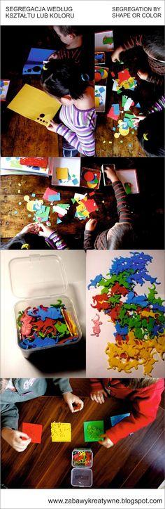 Zabawy kreatywne: Segregacja według kształtu lub koloru