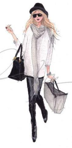A esta chica le encanta ir de compras.