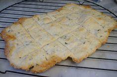 homemade crackers baked