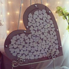 Wedding guestbook drop box wooden guestbook by PerfectParcels1