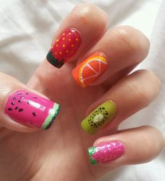 Summer 2016 nail trends fruity!