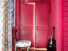 Tired of those basic, builder-grade interior doors? Add some fabric and trim for a sophisticated design detail that's sure to steal the spotlight.