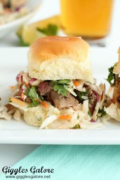 These Brisket Sliders with Spicy Jalapeno Coleslaw are going to elevate your dinner menu. Sweet and spicy, these small bites pack a big, flavorful punch! #gametimegrilling #ad #sliders #recipe #brisket #grilling #gigglesgalore Coleslaw Mix, Texas Toast Garlic Bread, Skirt Steak Recipes, Tomato Cream Sauces, Pan Seared Salmon, Roasted Turkey, Snacks, Sweet And Spicy, Recipes