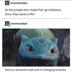 Chasekip: not to be excessive but Bulbasaur in the new detective pikachu trailer is the most beautiful creature ive ever witnessed ?