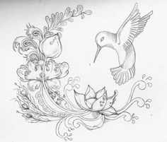 Love this design! Excellent positioning of the Hummingbird's wings and tail.